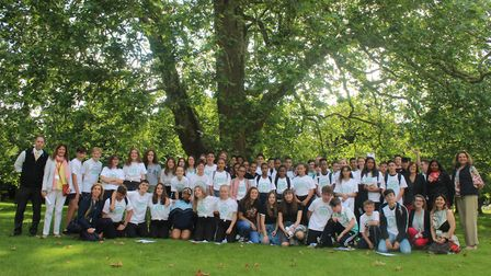 Students and staff on the scheme. King's Ely has scooped a British Council eTwinning Award for its w