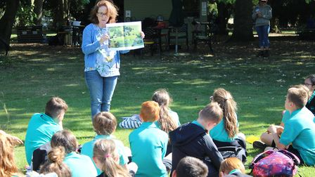 Children's author Ann-Marie Howell shared writing tips with the pupils at the Gardens of Easton Lodg