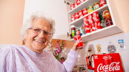 Jean Cox (91) drinks a coke a day in Ely. Picture: TERRY HARRIS