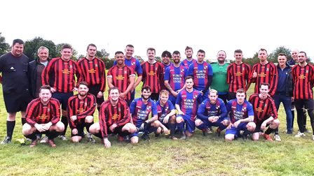 Score! A total of £200 was raised for Alzheimer's Society at a charity football match on Sunday, Oct