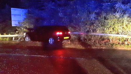 Police arrested a driver on the A14 after they reportedly drove at 135mph and were in possession of