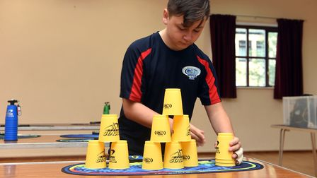Pictured is Alex Simmonds. A sport speed stacking group has been formed in March and is actively see