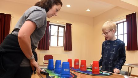 Pictured is Wendy Murphy and James Markham. A sport speed stacking group has been formed in March an