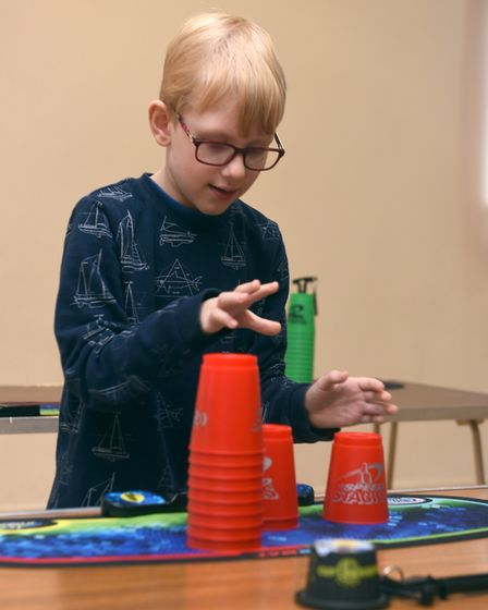 Pictured is James Markham. A sport speed stacking group has been formed in March and is actively see