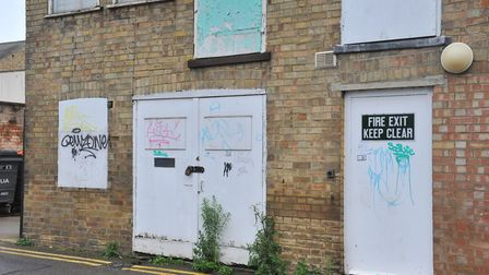 The strange 'REMZ' graffiti tag which has appeared all over March overnight. Picture: Harry Rutter/A