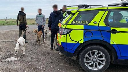 Officers with three people stopped on suspicion of hare coursing between Chatteris and Doddington. P