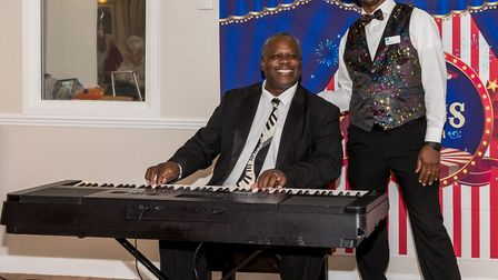 Lincoln Noel entertained many with his piano and vocal skills. Picture: SAFFRON PHOTO