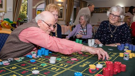 Steve Pointer's casino games were enjoyed by many. Picture: SAFFRON PHOTO