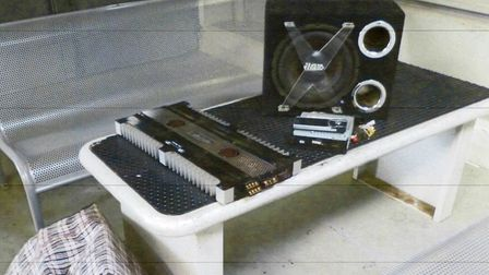 Marius Supelis. Guns and ammunition were hidden inside a TV and music speaker seized at the French b