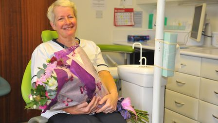 Barbara Taylor of Upwell Road Dental Centre (pictured) is retiring after 27 years at the March surge