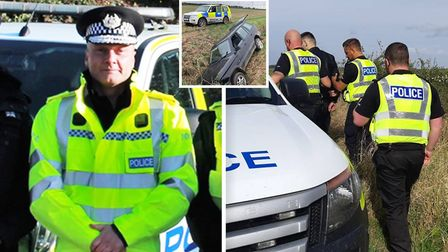 Cambridgeshire Police Chief Constable Nick Dean (pictured left) spent a day on the frontline and joi