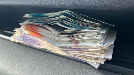 Money found on the BMW driver. Cambridgeshire Police Chief Constable Nick Dean spent a day on the fr