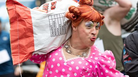 2019 Isle of Ely Produce Charity Potato Race. The only City Potato Sack Race in the world. Pictured