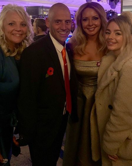 Strike a pose! March firefighter Wayne Marshall rubbed shoulders with the stars at the Daily Mirror