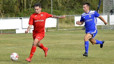 Matty Simpson set Ely City on the way to victory against Brantham in the Thurlow Nunn League Premier