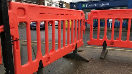 Railings around the fountain in March are being urgently repaired ahead of the town's Remembrance Su