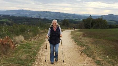 Five days to walk 120 kilometres along the Camino - that was the challenge Peter Harris and Liz Say