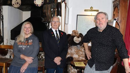 Chatteris hotel gears up for this year's Soldier Bear fundraiser in aid of Poppy Appeal. Picture: Su