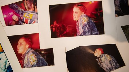 Keith Flint's furniture and items of clothing on display at Cheffins auctioneers in Cambridge, as th