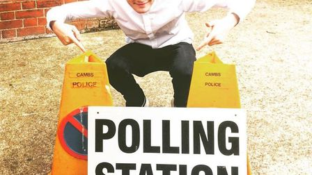 Harry Rutter at the polling station at the FE Centre in March in 2017. Picture: Supplied/Archant