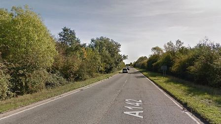 A motorcyclist has been left with serious injuries after a crash with a car on the A142 near Sutton