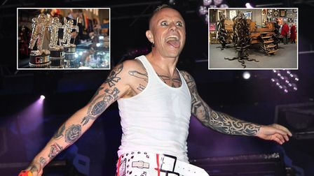 Items belonging to Keith Flint, The Prodigy frontman, sold for thousands at Cheffins auctions in Cam