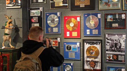 Gold and silver discs awarded for sales of The Prodigy's debut album Experience sold for £13,000. Pi