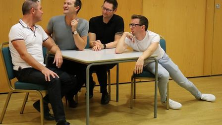 Dunmow Players rehearse Priscilla Queen of the Desert, their 2017 productio. Picture: DUNMOW PLAYERS