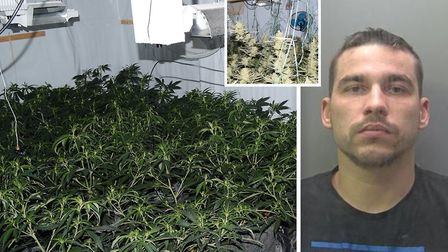 Two men have been jailed after police seized more than 110,000 worth of class B drugs from two prope