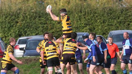 Tom Green wins a line out. Picture; STEVE WELLS