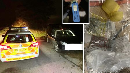 Man arrested on suspicion of drug driving was also found in possession on Sunday, October 20. Pictur