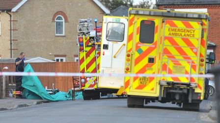The scene at Robingoodfellows Lane, March on Tuesday, October 22 after a woman suffered a cardiac ar