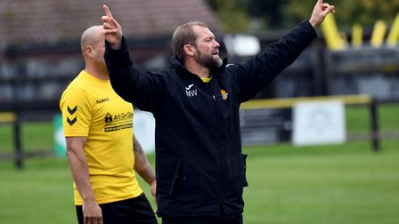 March Town boss Brett Whaley during his side's FA Vase exit. Picture: IAN CARTER