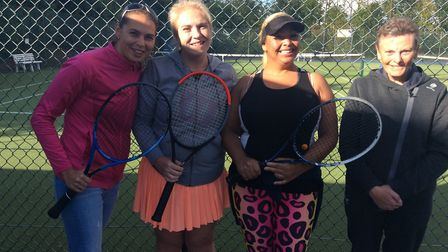 The Chatteris Tennis Club team of, left to right, Miriam Penegar, Hayley Sizer, Cindy Burnley and Ba