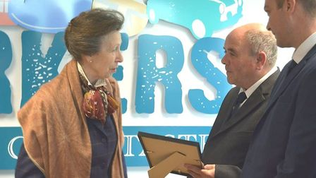 HRH the Princess Royal was warmly welcomed to East Cambridgeshire as she paid a 90 minute visit to C