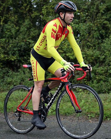 Ely & District Cycling Club's Chris Brown, winner of the Ely Senior Hillclimb championship. Picture:
