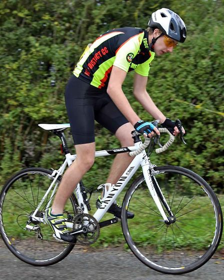 Ely & District Cycling Club's Oscar Barter, junior winner of the Ely Hillclimb championship. Picture