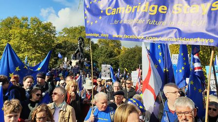 Cambridgeshire was massively represented during the People's Vote 'final say' rally in London on Sat