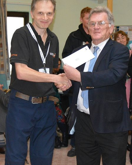 18 local organisations and charities were handed cheques totally nearly £13,000 after the Mayor of E