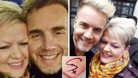 Gary Barlow superfan from Ely Sue Smith has took selfies with the star - and even got his autograph