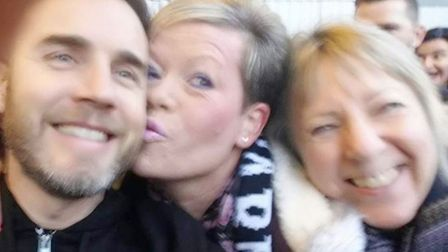 Gary Barlow superfan Sue Smith from Ely has proved how deep her love is for the singer by snapping s