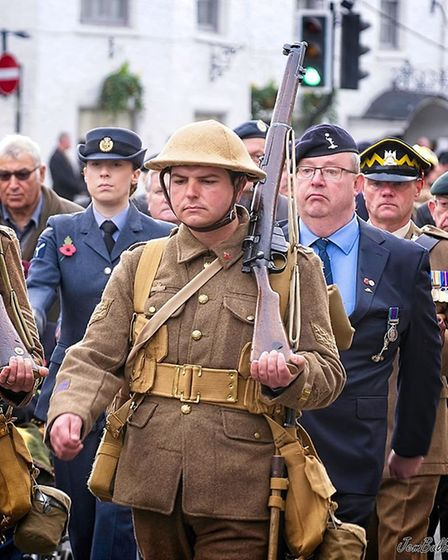 2019 March remembers: Hundreds join remembrance day parade in March and observe two minute silence i