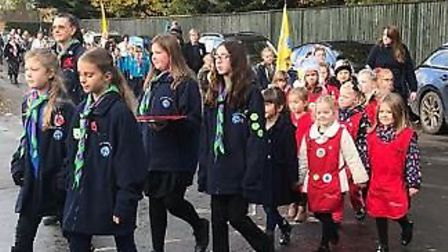 The village of Doddington fell silent on Remembrance Sunday as hundreds turned out to pay their resp