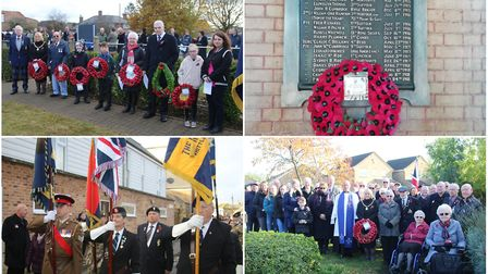 Hundreds turned out for the annual parade and silence on Sunday, November 10 in Whittlesey, Coates,