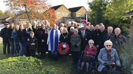 Eastrea remembers 2019! Hundreds turned out for the annual parade and silence on Sunday, November 10