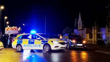 Three-car crash in Station Road, March, has held up traffic this evening (November 11). Picture: SUP