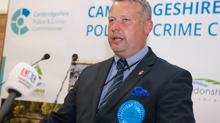 Police Crime Commissioner elections. Elected PCC Jason Ablewhite, Soham, Rosspeers Sports Centre, 06