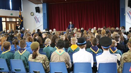 A remembrance ceremony was held at Witchford Village College on the site of the former RAF base. Pic