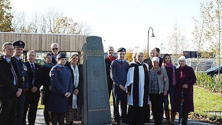 Veterans who were based at RAF Witchford were remembered at the 115 squadron memorial. Picture: Sue