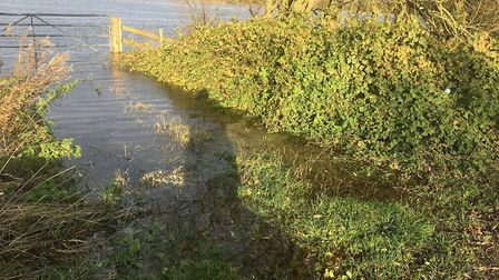 Flooding imminent on the Welney Wash Road - Environment Agency officials are noting the rise in wate
